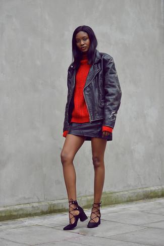 Zapatos de tacón de ante negros de Rebecca Minkoff