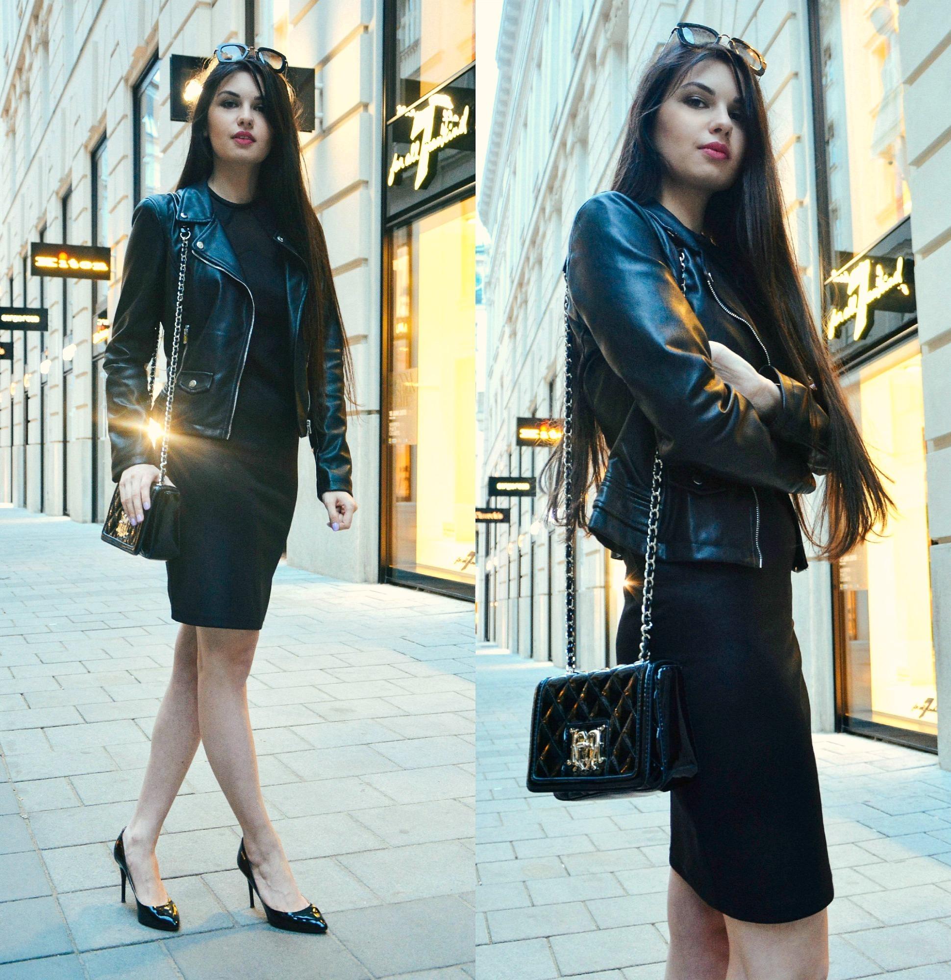 Chaqueta para un vestido negro