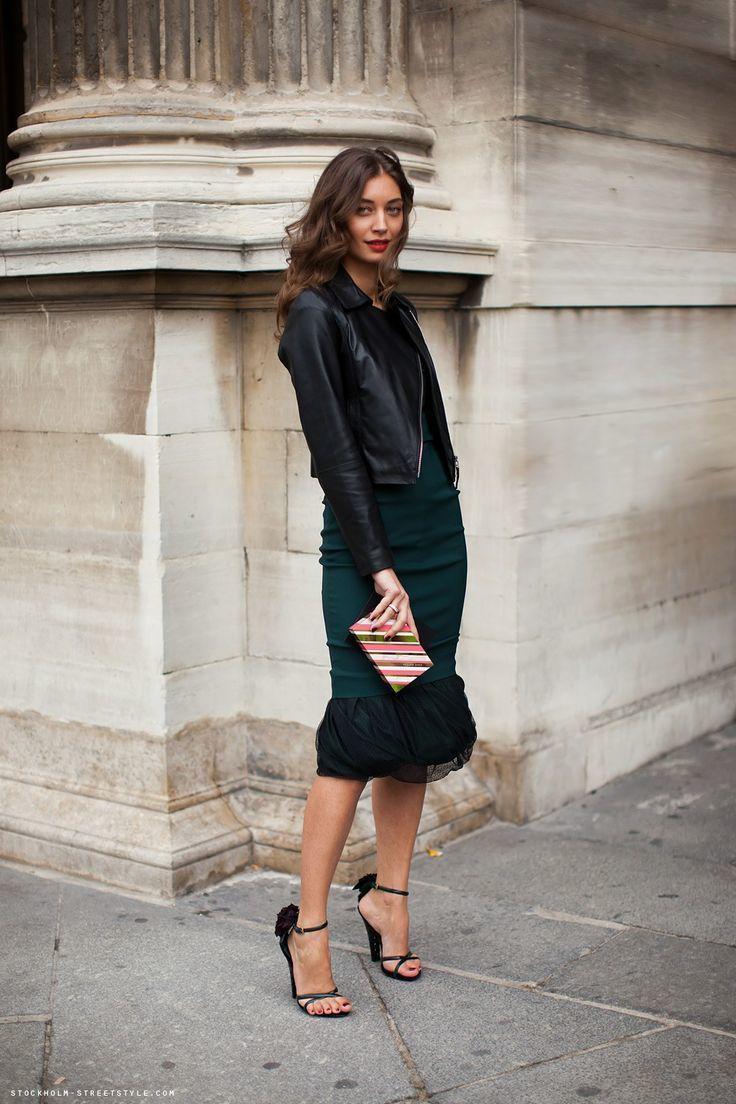 Chaqueta negra traje mujer