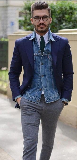 Pantalón de vestir de lana gris de Gant