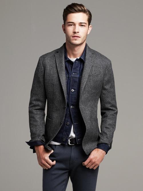 Mi chaqueta gris oscura