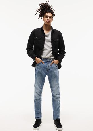 Camiseta con cuello circular gris de DC Shoes