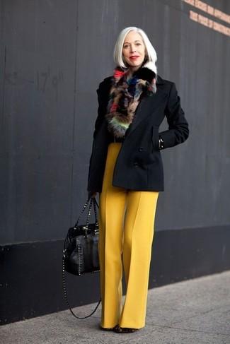 Chaqueton pantalones anchos botines bolsa tote bufanda large 13294