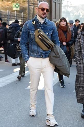 Cómo combinar un bolso de cuero para hombres de 40 años en