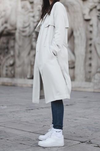 Tenis de cuero blancos de Salvatore Ferragamo