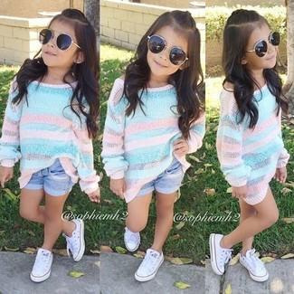 Zapatillas blancas de Mini Melissa