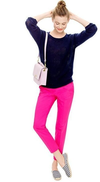 Outfits Azul Marino Con Rosa