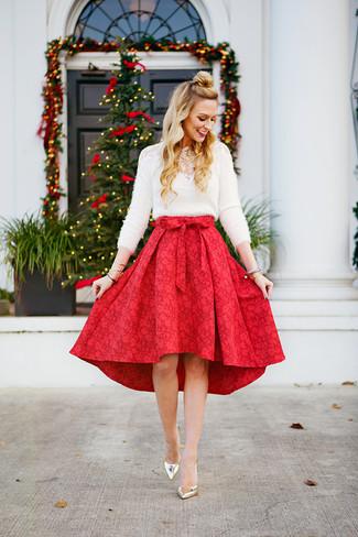 ed6e7496a Cómo combinar una falda campana (254 looks de moda) | Moda para ...
