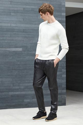 Negro Chándal De Pantalón Adidas Cuero UCXxwq