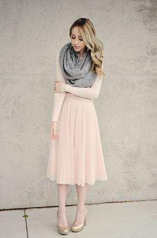 df98050b7 Cómo combinar una falda midi de tul (14 looks de moda) | Moda para ...