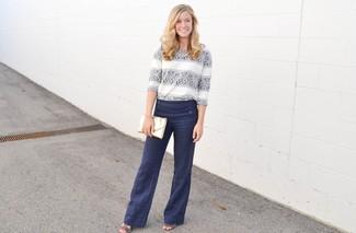 Pantalón de vestir azul marino de Dsquared2