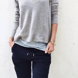 Jersey con cuello circular gris de Urban Classics