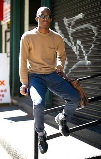 Jersey marrón claro de Tommy Hilfiger