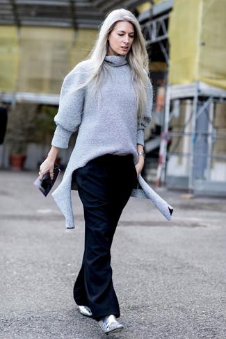 Pantalones anchos negros de MM6 MAISON MARGIELA