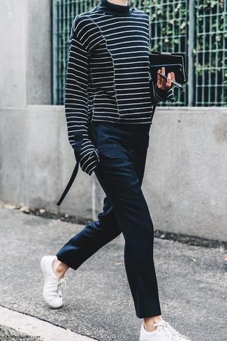 Jersey de rayas horizontales negro de Tod's