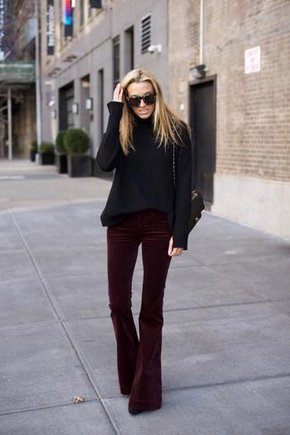 Burdeos5 Looks Terciopelo De Moda Cómo Unos Pantalones Combinar OiZkTXPu
