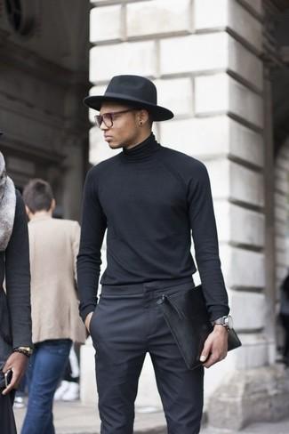 Pantalón de Vestir Negro de Selected Homme