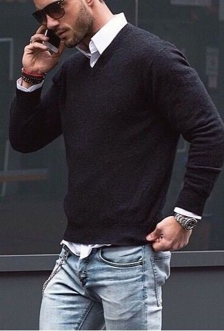 Jersey de pico negro de Tommy Hilfiger