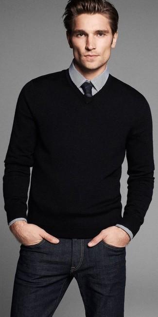Corbata negra de DSQUARED2