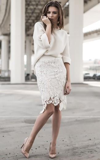 d0740acbf7a Cómo combinar una falda de encaje (155 looks de moda)