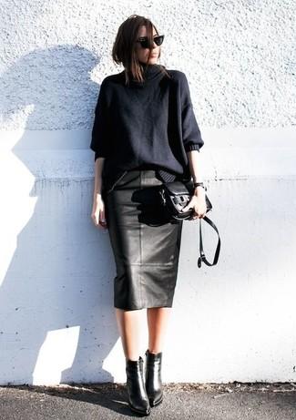 c12be48544 ... Look de moda  Jersey oversized negro
