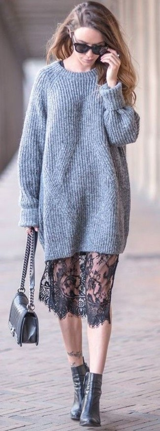 Bolso de hombre de cuero acolchado negro de Gucci