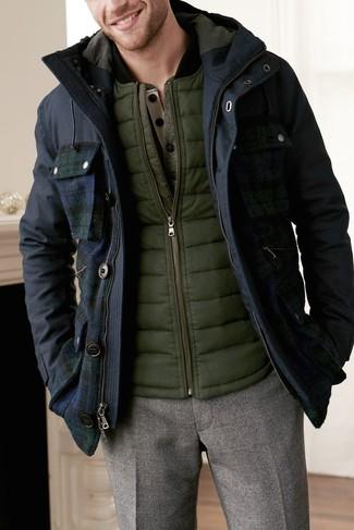 Chaleco de abrigo verde oliva de Brooks Brothers