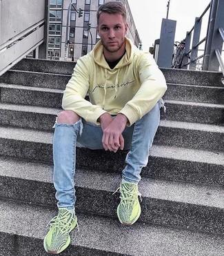 Deportivas en amarillo verdoso de adidas