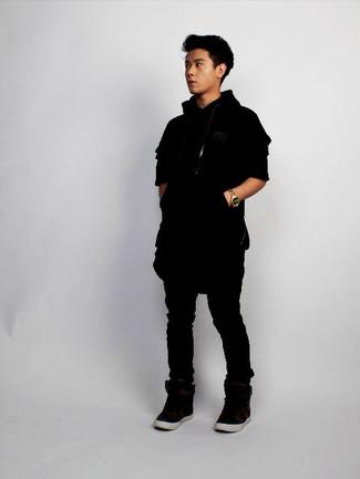 Sudadera con capucha negra de G-Star RAW