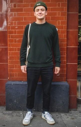 Jersey verde oscuro de Tommy Hilfiger