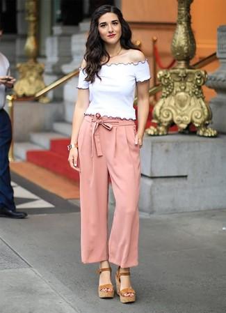 Como Combinar Unos Pantalones Anchos 549 Outfits Lookastic Espana