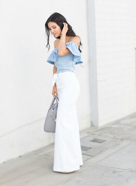 4f680d54d Cómo combinar una falda larga blanca (34 looks de moda)   Moda para ...