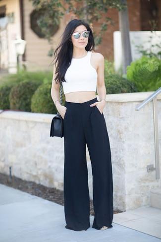 Pantalones anchos negros de Shirtaporter