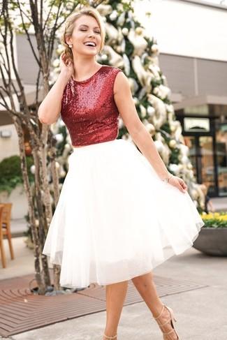 fad21b995 Cómo combinar una falda de tul (72 looks de moda)