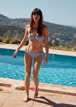 Top de bikini celeste de Cynthia Rowley