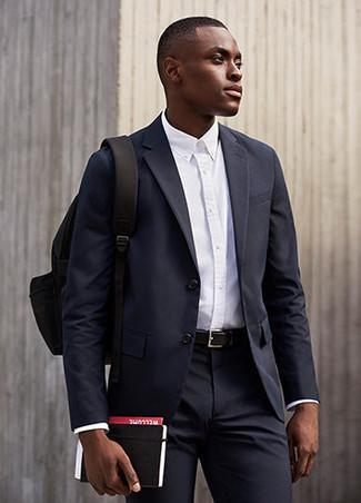 Mochila de lona negra de Nike SB