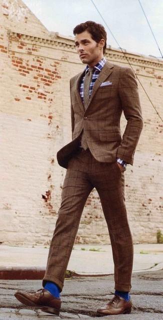 Corbata de lana marrón de Kingsman