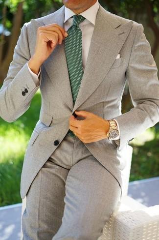 5ef2b86523 Cómo combinar un traje gris (558 looks de moda)