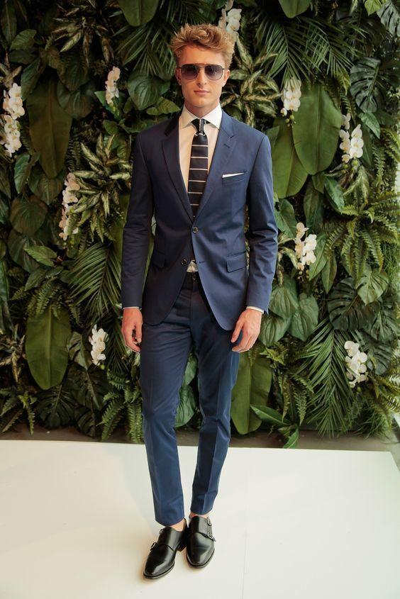Zapatos azul marino con hebilla formales para mujer wfbbZbR0