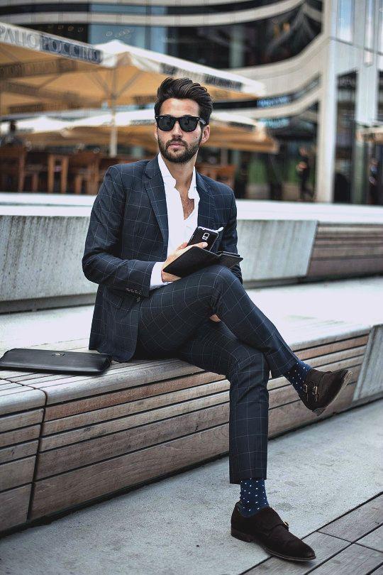 Un Combinar Looks Moda Negro Para 6 Moda Cómo Traje A Cuadros De q5vWqd0w