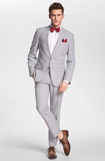 5c633f4967 Cómo combinar un traje gris con unos zapatos derby marrónes (28 ...