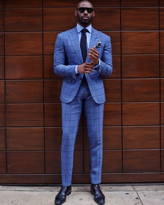 b6f072b5540bd Cómo combinar un traje a cuadros azul (42 looks de moda)