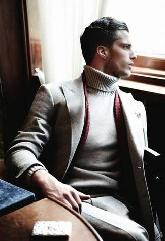 Jersey de cuello alto gris de La Fileria For D'aniello