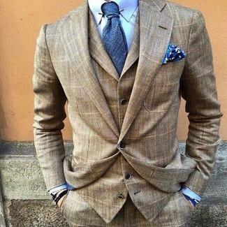 Cómo combinar una camisa de vestir celeste con una corbata azul (157 ... 2ba41261f562