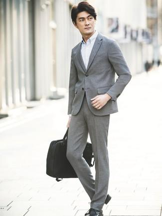 Cómo combinar una camisa de manga larga celeste estilo elegante (38 ... ede09e6db349