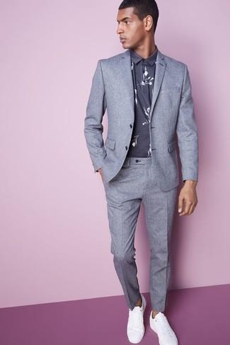 a7f5dd5f4845d Cómo combinar un traje gris (558 looks de moda)