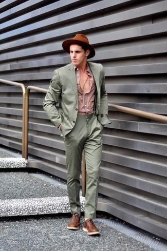 Sombrero de lana marrón de Diesel