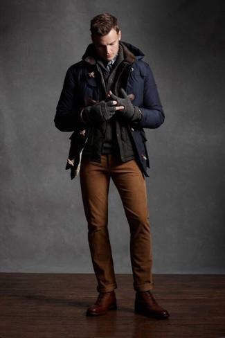 Chaleco de abrigo acolchado en marrón oscuro de Eleventy