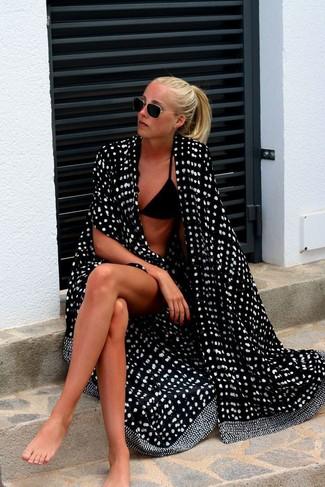 Top de bikini negro de Matteau
