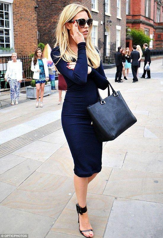 Cómo Combinar Un Vestido Ajustado Azul Marino 27 Looks De